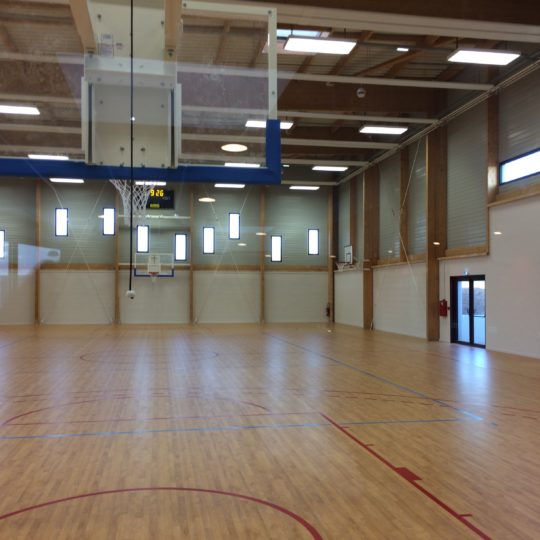 salle sport bois charpente